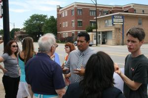 martin talking to voters